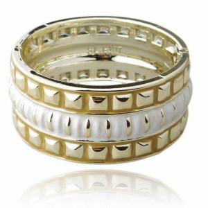 Лёгкий жёсткий браслет «Рамос» из пластика с геометрическим орнаментом фото. Купить