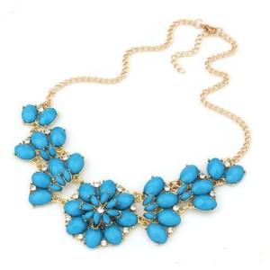 Очаровательное ожерелье «Франческа» с небесно-синими камнями и стразами фото. Купить
