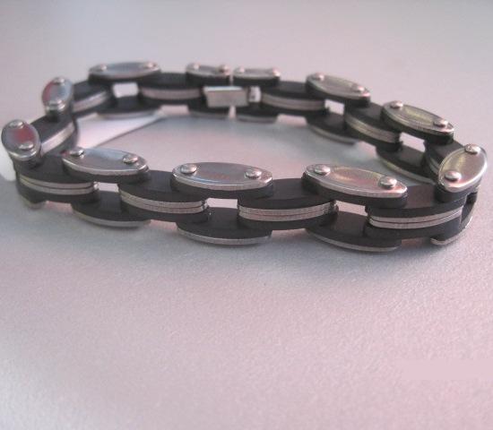 Хороший мужской браслет из нержавеющей стали с комбинированными звеньями купить. Цена 160 грн