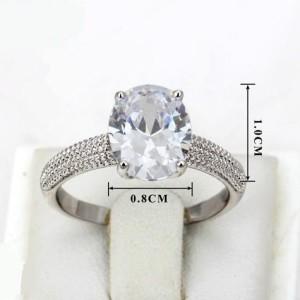 Скромное кольцо «Румба» (бренд-ITALINA) с овальным кристаллом Сваровски и платиновым напылением купить. Цена 195 грн или 610 руб.