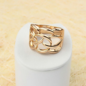 Широкое позолоченное кольцо «Байдана» напоминающее плетение кольчуги, без камней купить. Цена 180 грн