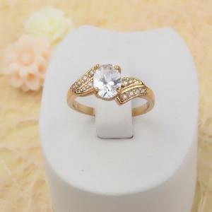 Безупречное кольцо «Госпожа» с крупным овальным фианитом и настоящей позолотой купить. Цена 175 грн