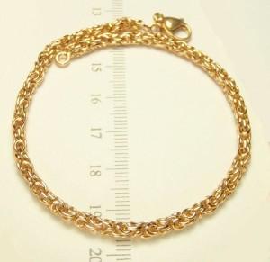 Качественный браслет-цепь с ажурным плетением «Роза» и 24-х каратной позолотой купить. Цена 270 грн или 845 руб.