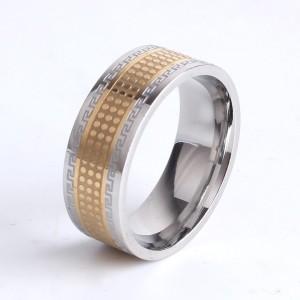 Великолепное кольцо «Gedeon» из нержавеющей стали с греческим орнаментом купить. Цена 210 грн