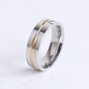 Серебристое кольцо «Gedeon» из нержавеющей стали с двумя пересекающимися бороздами купить. Цена 165 грн