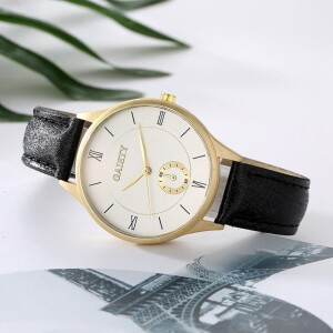 Тонкие часы «Gaiety» с корпусом матового золотого цвета купить. Цена 225 грн