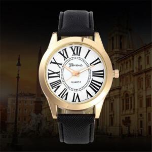 Классические часы «Geneva» с большими римскими цифрами фото. Купить