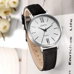 Повседневные женские часы «Geneva» с циферблатом с красивым узором фото. Купить