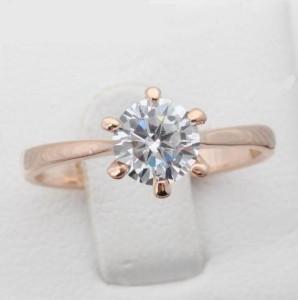 Тонкое кольцо «Брюссель» (бренд-ITALINA) с кристаллом Сваровски в высокой оправе с покрытием розовым золотом купить. Цена 145 грн