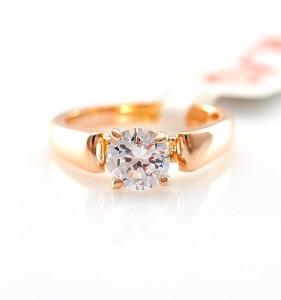 Аккуратное кольцо «Стиль» (бренд-ITALINA) классической формы с камнем Сваровски и качественной позолотой купить. Цена 165 грн