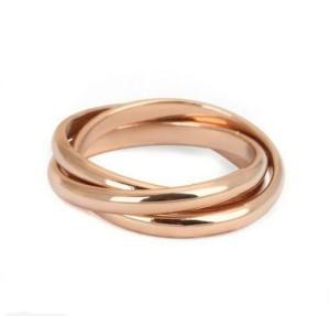 Тройное кольцо «Тринити Gold» (бренд-ITALINA) без камней с розовой позолотой купить. Цена 150 грн