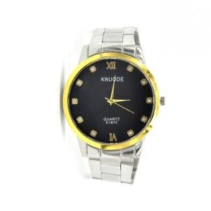 Стильные часы «Knuode» со стразами на чёрном циферблате и со стальным браслетом купить. Цена 270 грн