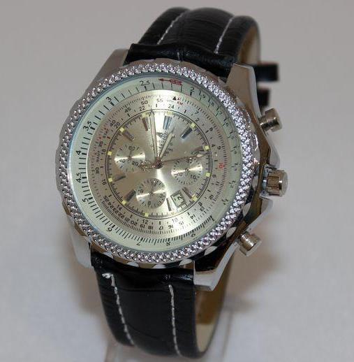 Массивные часы-реплика «Breitling» с активным окошком даты и чёрным ремешком купить. Цена 370 грн