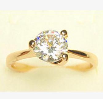 Классическое кольцо «Солярис» с одним гранённым цирконом и реальным золотым покрытием купить. Цена 135 грн