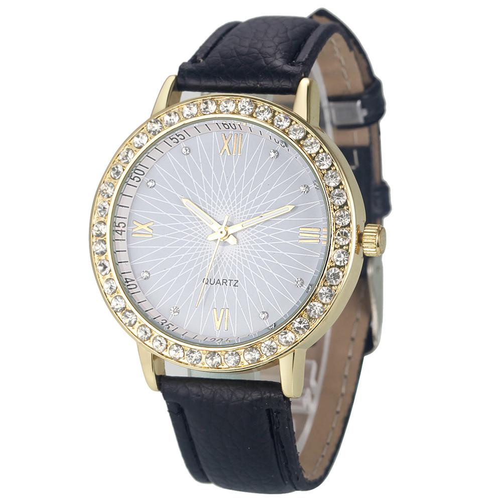 Новейшие часы «Quartz» с абстрактным рисунком на циферблате и чёрным ремешком купить. Цена 245 грн