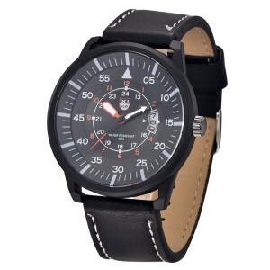 Строгие мужские часы «XINEW» с чёрным корпусом и функцией отображения даты фото. Купить