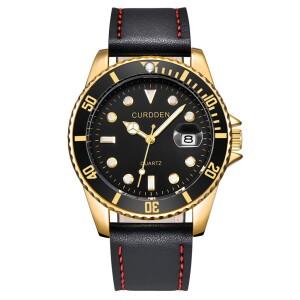 Великолепные часы «Curdden» с золотым корпусом и чёрным ремешком купить. Цена 499 грн