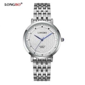 Небольшие мужские часы «Longbo» из нержавеющей стали серебряного цвета фото. Купить