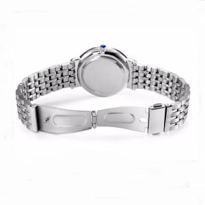 Небольшие мужские часы «Longbo» из нержавеющей стали серебряного цвета фото 1