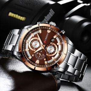 Классные мужские часы «Curren» с функцией хронографа и металлическим браслетом купить. Цена 1290 грн