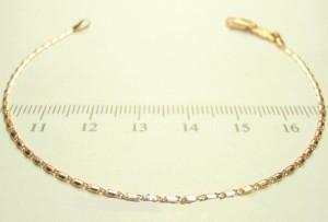 Очень тонкий браслет с морским плетением и 18-ти каратным золотым покрытием купить. Цена 99 грн или 310 руб.