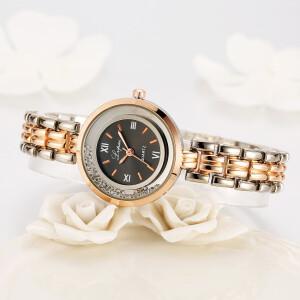 Отличные женские часы «Lupai» с двухцветным металлическим браслетом фото. Купить