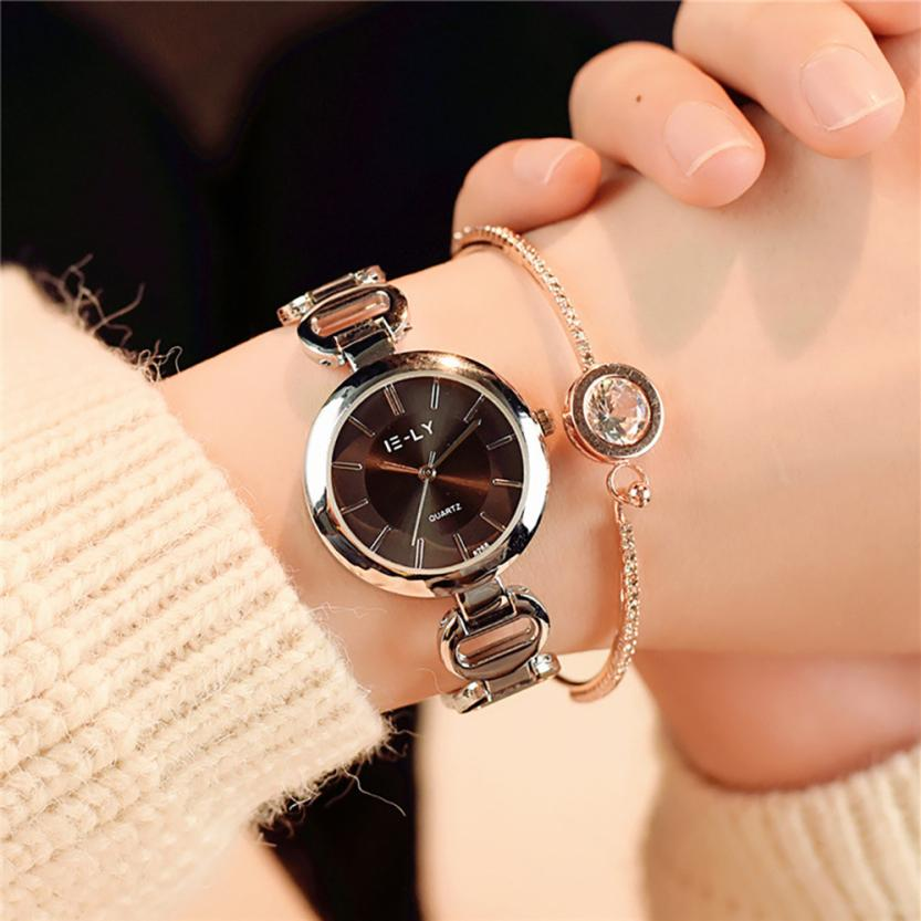 Лаконичные женские часы «IE-LY» с красивым металлическим браслетом купить. Цена 345 грн