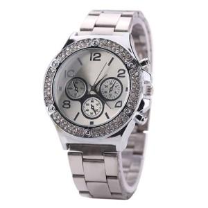 Богатые женские часы «Kanima» серебряного цвета с металлическим браслетом купить. Цена 299 грн
