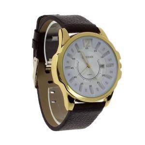Солидные часы «Curren» с крупным золотым корпусом и функцией отображения даты фото. Купить