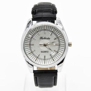 Престижные часы «Faleidu» классического стиля с отображением даты и чёрным ремешком фото. Купить