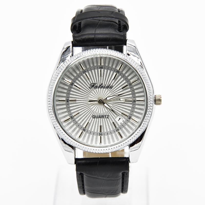 Престижные часы «Faleidu» классического стиля с отображением даты и чёрным ремешком купить. Цена 365 грн