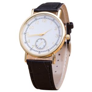 Доступные наручные часы «Quartz» в классическом стиле с круглым циферблатом с цифрами фото. Купить