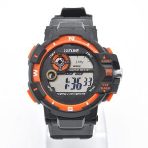 Электронные наручные часы «Xinjie» с подсветкой, календарём и секундомером фото. Купить