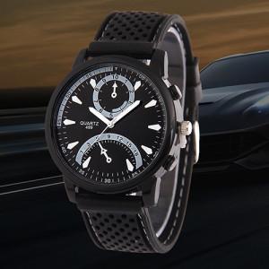 Чёрные мужские часы «DG Jud» в спортивном стиле с красивым силиконовым ремешком фото. Купить