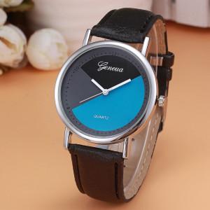 Недорогие часы «Geneva» с необычным циферблатом и чёрным ремешком купить. Цена 165 грн