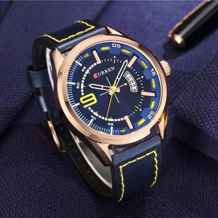 Солидные часы «Curren» с крупным золотым корпусом и функцией отображения даты купить. Цена 899 грн