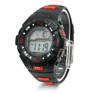 Чёрные электронные часы «Lasika» с подсветкой, будильником и секундомером купить. Цена 250 грн