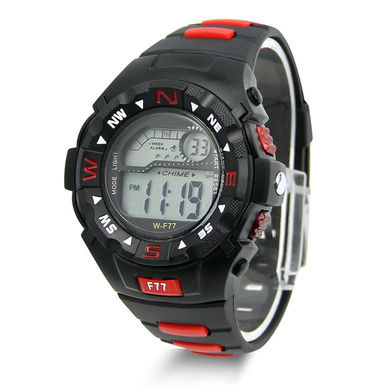 Чёрные электронные часы «Lasika» с подсветкой, будильником и секундомером купить. Цена 270 грн