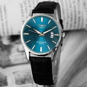 Деловые мужские часы «Swidu» с красивым циферблатом с активной датой и чёрным ремешком купить. Цена 335 грн