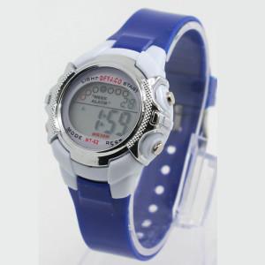 Маленькие электронные часы с синим силиконовым ремешком и подсветкой купить. Цена 155 грн
