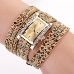 Очаровательные часы «Geneva» прямоугольной формы с красивым длинным тройным ремешком купить. Цена 250 грн