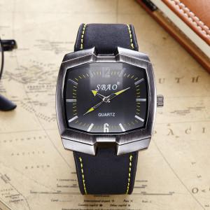 Экстравагантные часы «SBAO» с оригинальной формой корпуса и чёрным ремешком купить. Цена 299 грн