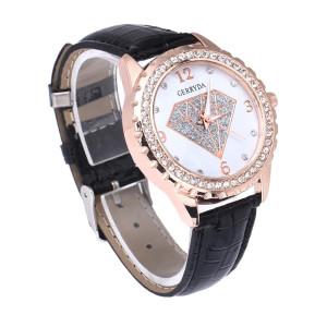 Чудесные женские часы «Gerryda» красивого дизайна со стразами и чёрным ремешком купить. Цена 185 грн