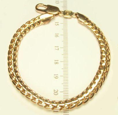 Толстый браслет крупного декоративного плетения с высококачественной позолотой купить. Цена 399 грн