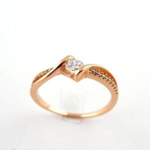 Тонкое кольцо «Саманта» ажурной формы с высококачественной позолотой и фианитами купить. Цена 199 грн или 625 руб.