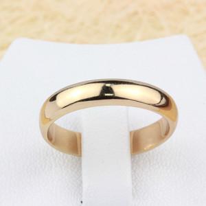 Гладкое кольцо «Обручальное» с натуральной позолотой без камней, шириной 6мм фото. Купить