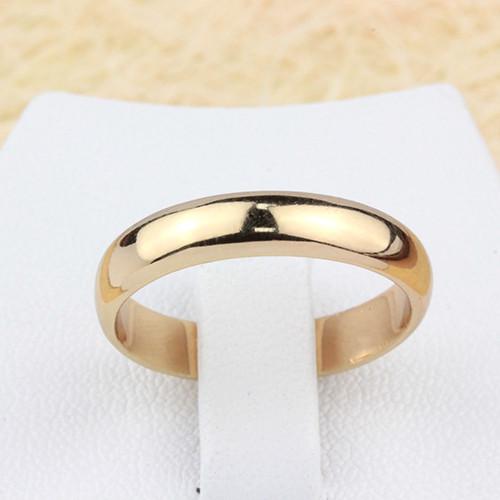 Гладкое кольцо «Обручальное» с натуральной позолотой без камней, шириной 4мм купить. Цена 99 грн