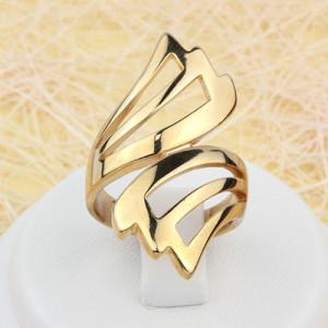 Удлинённое кольцо «Крылатое» без камней и с качественным золотым напылением купить. Цена 160 грн
