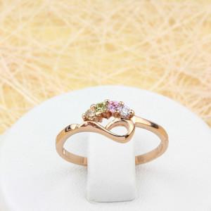 Очаровательное кольцо «Саванна» с разноцветными фианитами и золотым напылением фото. Купить