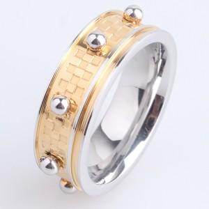 Очень необычное кольцо «Gedeon» из нержавеющей стали с жёлтым покрытием купить. Цена 185 грн или 580 руб.